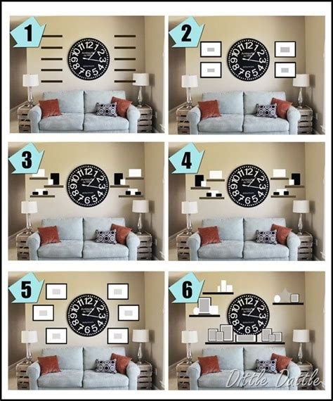 Country Living Room Clocks by Wall Collage Ideas Around A Clock Ideas To Use With Our