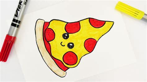 bilder malen leicht kawaii diy pizza selber machen s 252 223 es junk food f 252 r einladungen und geburtstagskarten