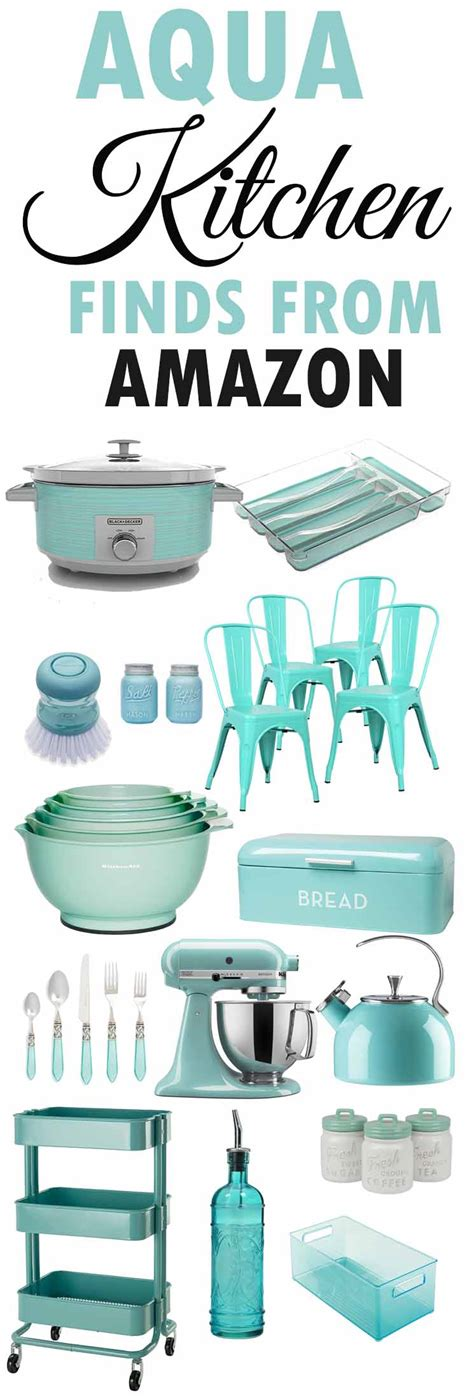 Farmhouse Kitchen Printables+aqua Kitchen Decor  The