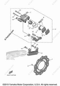 Yamaha Motorcycle 2020 Oem Parts Diagram For Rear Brake