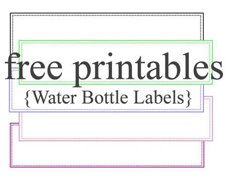 Bottle Label Template by Free Printable Water Bottle Labels Template Vastuuonminun