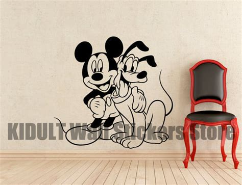 Buy Pluto And Mickey Mouse Cartoon Wall