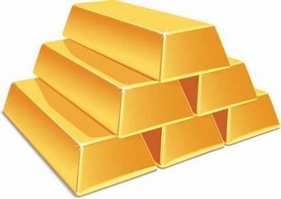 Gold Clipart Vector Bars Ingot Goldbarren Brick