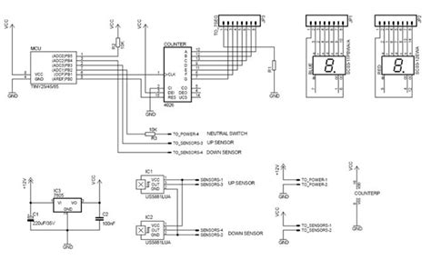 Wiring Diagram For Motorcycle Indicator by Motorcycle Universal Gear Indicator Electronics Lab