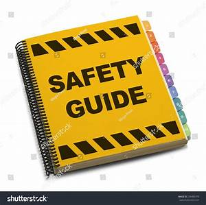 Yellow Spiral Safety Guide Book Isolated On White
