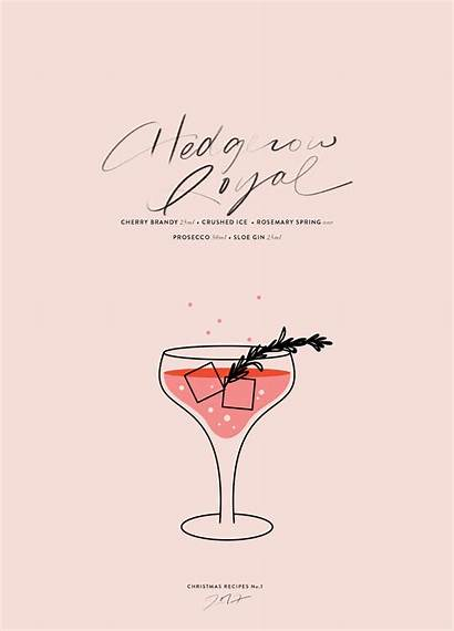 Girly Royal Outgoing Cocktail Graphic Recipe Cocorrina