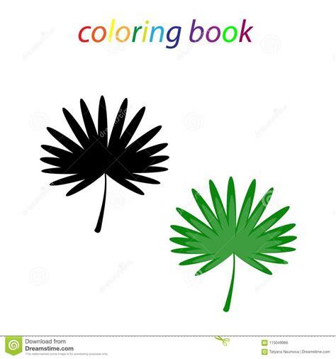 livre de coloriage dune feuille tropicale pour des