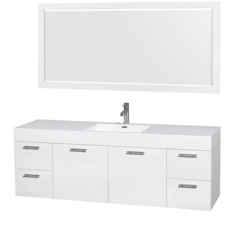 70 Bathroom Vanity Single Sink by Amare 72 Quot Wall Mounted Single Bathroom Vanity Set With