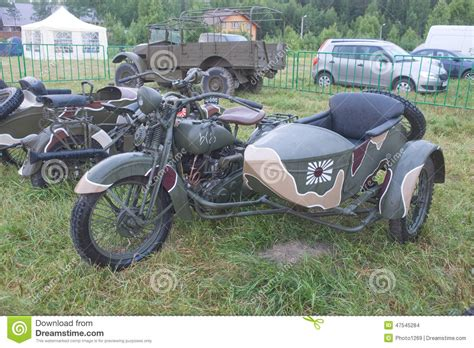 Japanese Old Military Rikuo Motorcycle Type 97 At The 3rd