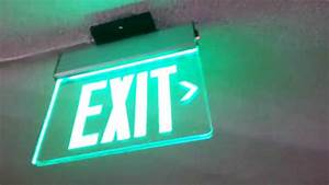 Morris Products Generic Edge Lit Exit Sign