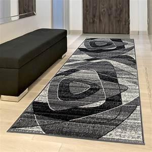Flur Teppich Grau : tapiso dream l ufer flur teppich kurzflor modern teppichl ufer br cke in grau schwarz creme ~ Whattoseeinmadrid.com Haus und Dekorationen