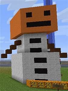 Minecraft Giant Snow Golem by junadina on DeviantArt