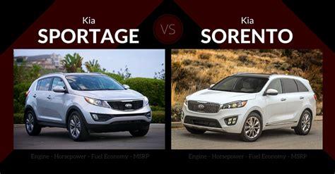 Kia Sportage Vs Sorento by 2016 Kia Sportage Vs Kia Sorento