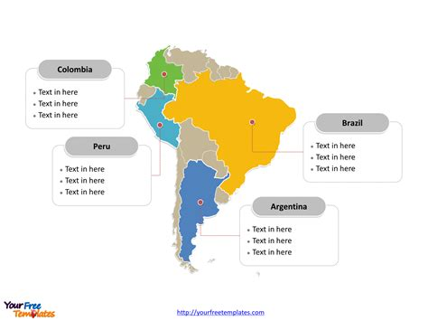 South America Coloring Map Of Countries Maybe Use For Jr