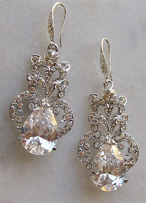 Sparkly Chandelier Earrings by Stunning Rhinestone Chandelier Earrings Swarovski