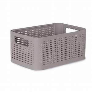 Cube De Rangement Leroy Merlin : bo te de rangement nomade en plastique gris gris 4 ~ Dailycaller-alerts.com Idées de Décoration