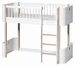 Oliver Furniture Hochbett : oliver furniture wood mini halbhohes bett weiss eiche ~ A.2002-acura-tl-radio.info Haus und Dekorationen