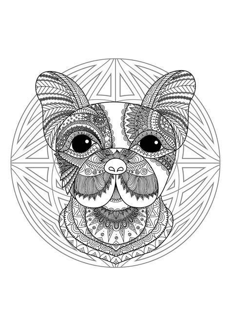 mandala  cute dog head  geometric patterns malas