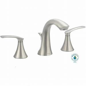 Moen darcy 8 in widespread 2 handle high arc bathroom for Moen darcy bathroom faucet