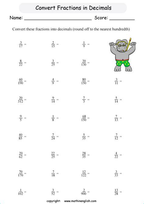 convert fractions  decimals     nearest