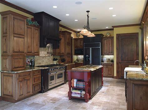perimeter cabinets acorn rustic maple  black glaze