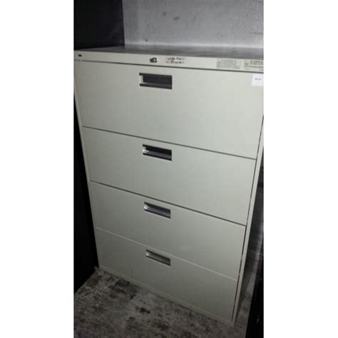 hon 4 drawer file cabinet used hon 4 drawer lateral filing cabinet 36x18x54 quot
