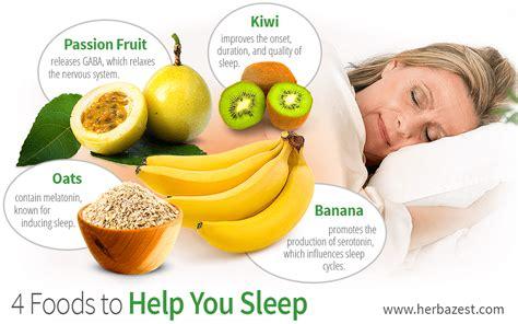 4 Foods To Help You Sleep Herbazest