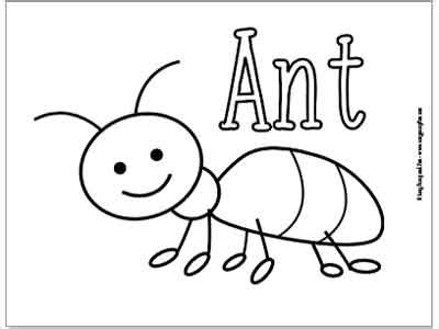 bugs coloring pages for easy peasy and 391 | Ant Coloring Page