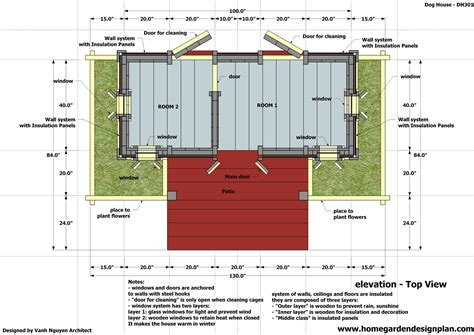 home garden plans dh dog house plans   build  insulated dog house  dog