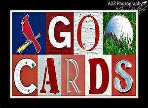 st louis cards baseball letter art 8x10 print by a2z With baseball letter art