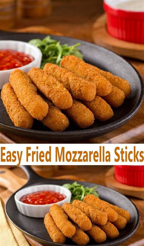 easy fried mozzarella sticks recipe appetizer recipes