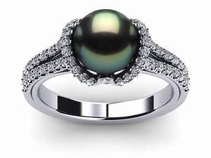 tahitian pearl diamond ribbon ring With tahitian pearl wedding rings