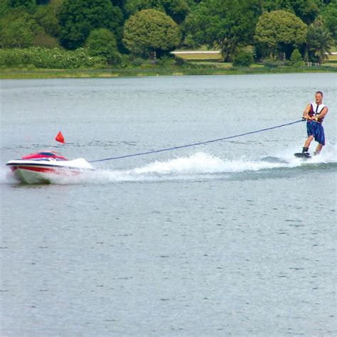 Tow Boat Gear by Water Skier Controlled Tow Boat The Green