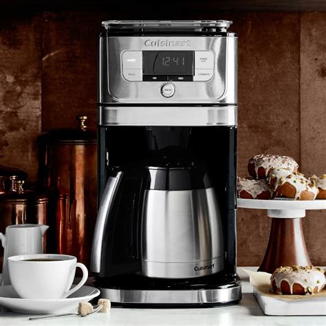 cuisinart burr grind brew coffee maker  thermal carafe williams sonoma