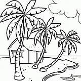 Colorat Coloring Peisaje Vara Coloriage Ile Planse Plaja Peisaj Paradise Colorear Cocotier Nature Une Playa Drawing Dessin Coloriages Plage Imprimer sketch template