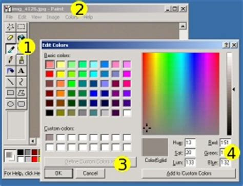 100 ms paint get color rgb color selection color