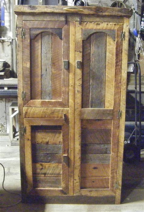hunting cabinet  barn wood furniture    bar