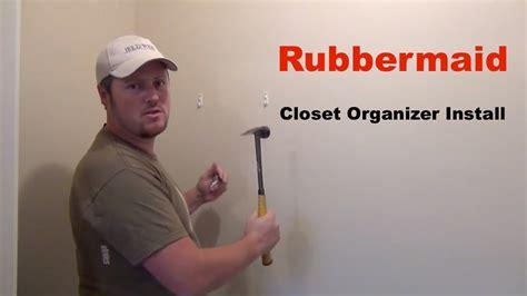 rubbermaid closet organizer kit installation