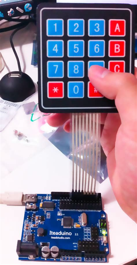 arduino  keypad test arduinodevcom