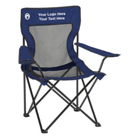 personalized coleman poly oxford folding chairs folding