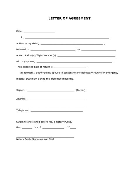 letter of consent for travel of a minor child letter of consent for travel of a minor child
