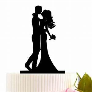 Kiss Bride and Groom Wedding Cake Topper Personalize ...