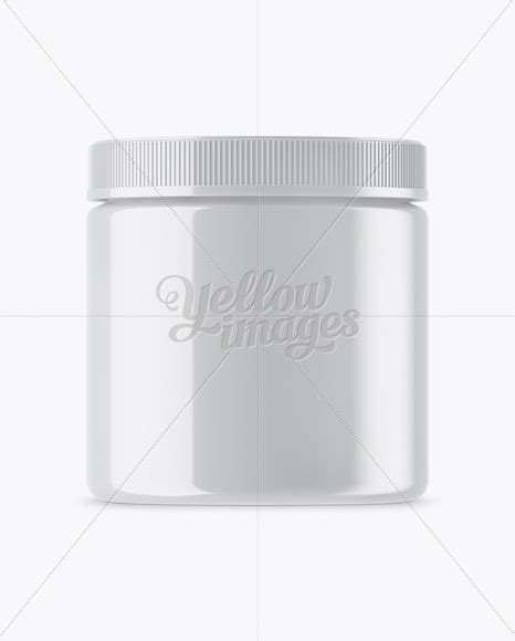 All free mockups include smart objects for easy edit. Glossy Plastic Protein Jar Mockup in Jar Mockups on Yellow ...