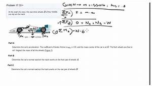 Problem 17 33 Race Car And Friction