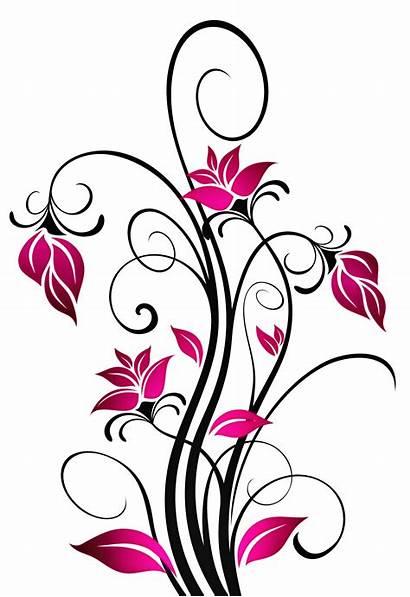 Scroll Clipart Patterns Cross Flowers Pattern Scrolling