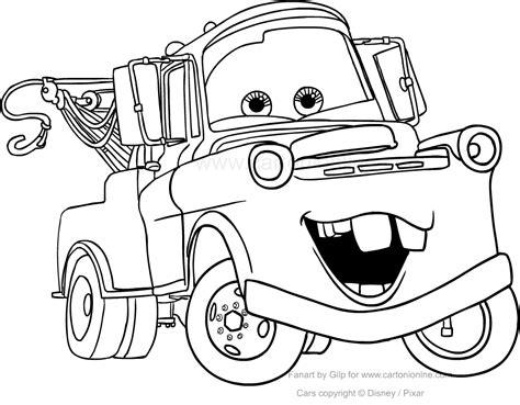 disegni da colorare di cars saetta disegno di carl attrezzi quot cricchetto quot di cars da colorare