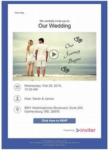 how to send a wedding invitation video With sending wedding invitations through email