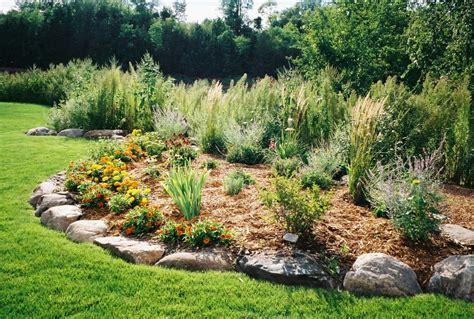berm landscaping ideas boulder and shrub berm landscaping berms for flood prevention pinterest shrub yard ideas
