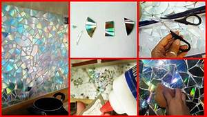 How To Make Recycled CD Wall Decoration - Art & Craft Ideas