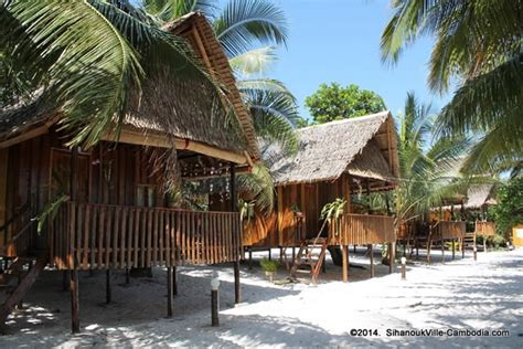 Happy Bungalows On Koh Rong Island In Sihanoukville, Cambodia
